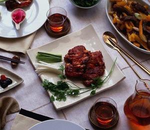 鶏のオーブン焼き甘みそ添え