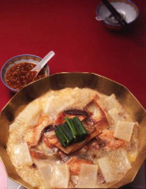 大根と生鮭の白湯鍋
