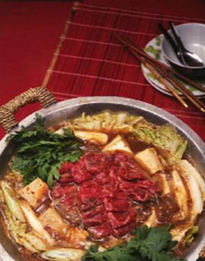 白菜と牛肉のピリ辛鍋