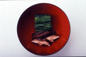 小松菜としいたけのみそ汁