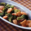 魚介とブロッコリーの炒めもの