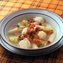 鶏だんごとキャベツのスープ煮