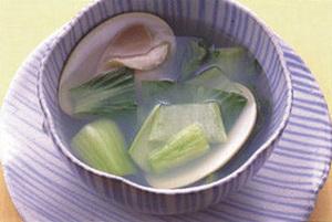 はまぐりと青梗菜のスープ