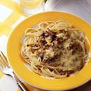 あさり納豆のスパゲティ