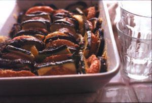 焼き野菜のアンチョビーソースがけ