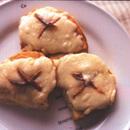 アンチョビーとスモークサーモンのトースト