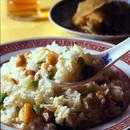 卵白と鶏肉の炒飯