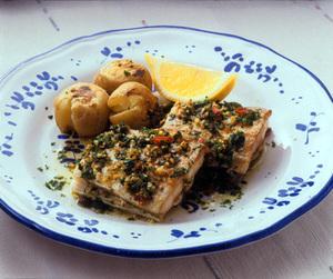 たち魚のガーリックソース