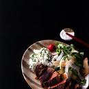 みそ漬けステーキ+春野菜サラダ