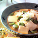 そら豆と豆腐のさっと煮