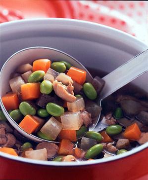 枝豆と野菜ののっぺ煮