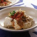 豆腐のサラダごま酢ソース