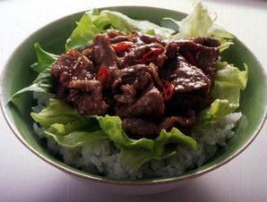 牛肉&レタス丼