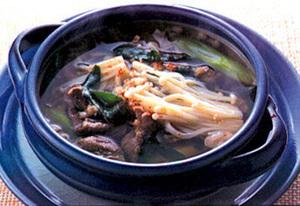牛肉とえのきのスープ
