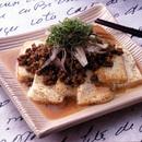 豆腐のこんがり焼き肉そぼろがけ