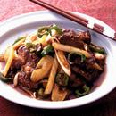 牛肉とセロリの甘辛炒め