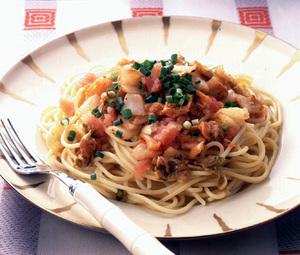 たらこキムチスパゲティ