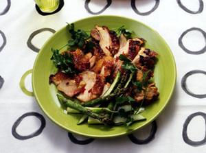 鶏もも肉のカレー照り焼き