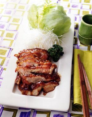 鶏もも肉の中国風照り焼き