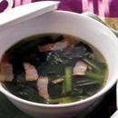 小松菜とベーコンの中国風スープ