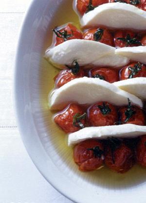 自家製ドライトマトとモッツァレラチーズの盛り合わせ
