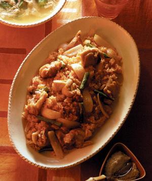 ジャンバラヤ風炒飯