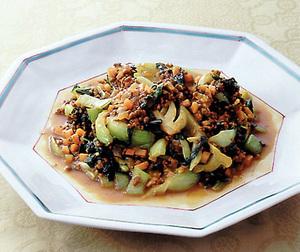 青梗菜のカレー炒め
