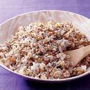野沢菜とひき肉の混ぜご飯