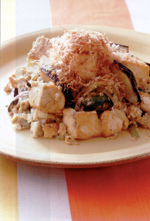 豆腐と夏野菜の炒めもの