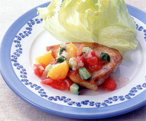 めかじきのソテー 野菜マリネソース