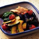 夏野菜と手羽中の揚げびたし