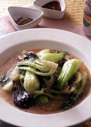 青梗菜とたらこの炒め煮