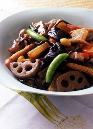 羅漢菜(いろいろな野菜の中国風炒め煮)