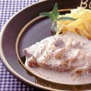 豚肉のマスタードクリームソース