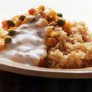 野菜たっぷりの玄米ご飯のヘルシーカレー