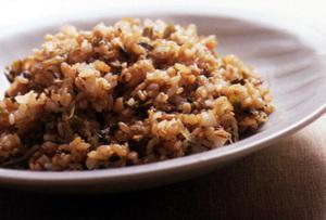 麦ご飯のシンプルなチャーハン