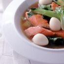 鮭と青梗菜の中国風炒め