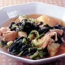 小松菜と豚肉の煮びたし