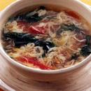つるむらさきとトマトのスープ