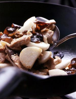 豚肉と長いもの中国風炒め