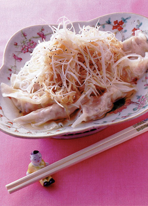 ねぎのせ鶏水餃子