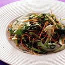 青梗菜の辛みドレッシングサラダ