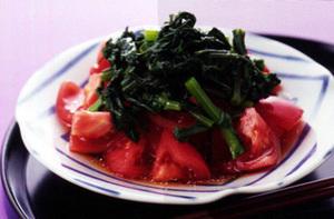 トマトと春菊のおひたし