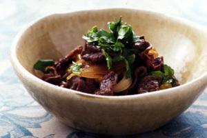 牛肉と玉ねぎのさっと煮