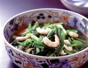 小松菜とえびのひたしもの