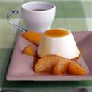 ミルクプリンのオレンジキャラメルソース