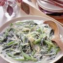 小松菜と帆立てのクリーム煮