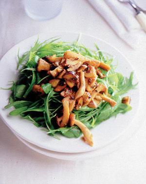 ほうれん草と水菜のきのこサラダ