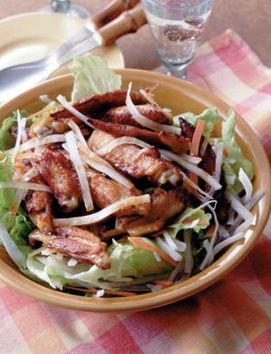 鶏手羽サラダ