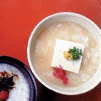 豆腐+みそのおかゆ